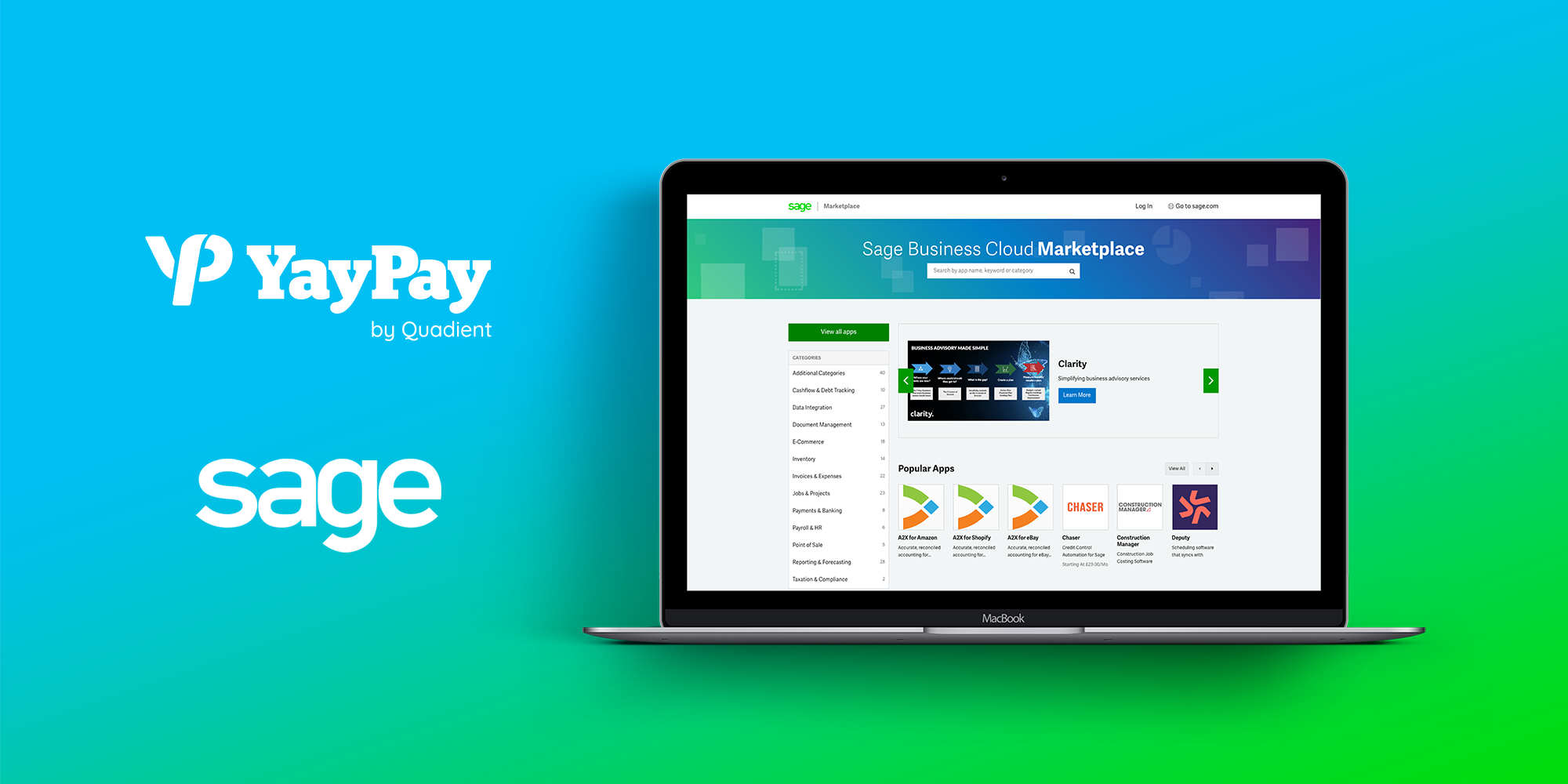 YayPay by Quadient Joins Sage Marketplace